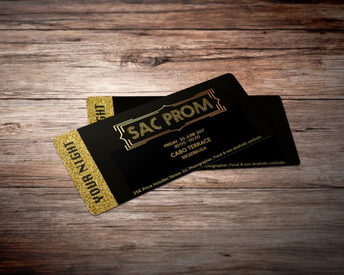 SAC Prom Tickets  Prom Tickets Design